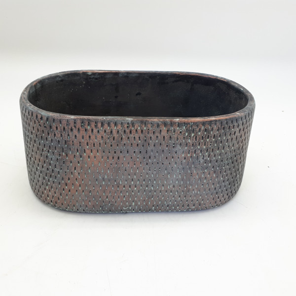 Cement Planter Sapri Oval Antique Copper L24,5W13,5H11