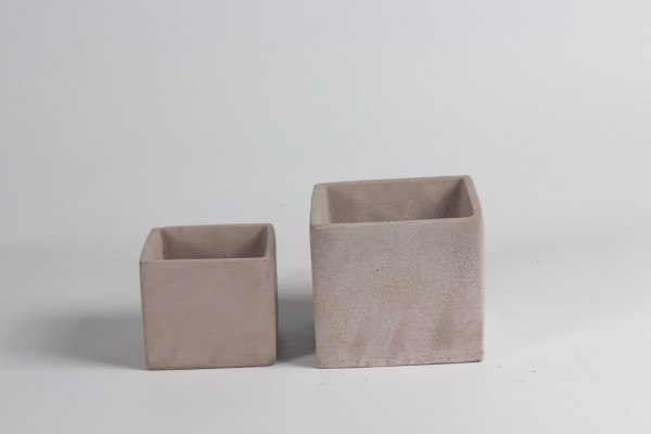 Cement Planter Rovigo Vierkant Rose L13,5W13,5H12 S2