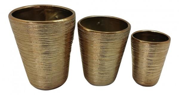 Vase Sirolo Rund Kupfer D17H22 Set 3