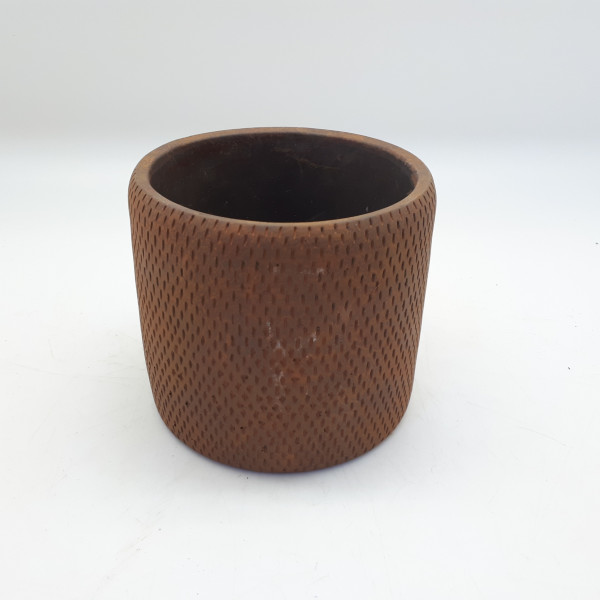 Cement Pot Sapri Round Rusty D11H9