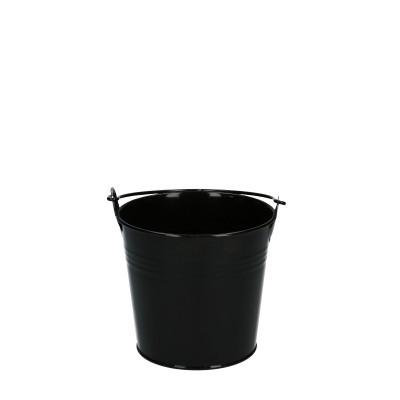 Zink Eimer d10*09cm schwarz