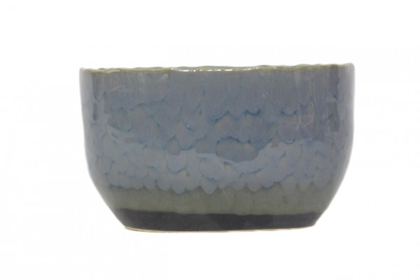 Ceramic Planter Mestre Oval Blue L13,5W7,5H8