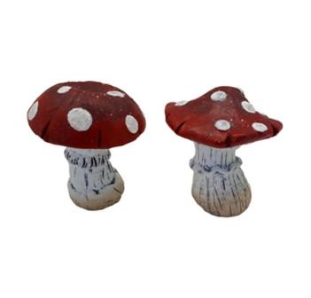 Terrakotta Pilz Rot L12,5W12H14 2Ass