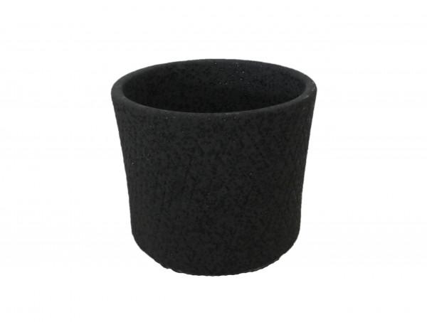 Ceramic Pot Atessa Round Black Set 3 D16H13,5