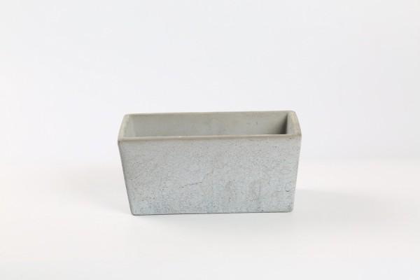 Cement Planter Rovigo Rectangle Grey L19,5W10H9