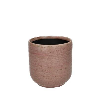 Ceramic Pot Alezio Round Rustique Pink D10H11