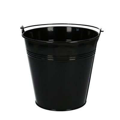 Zink Emmer d16*15cm zwart