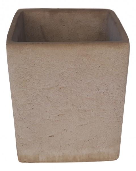 Zement Topf Rovigo Viereck Grau D7H8