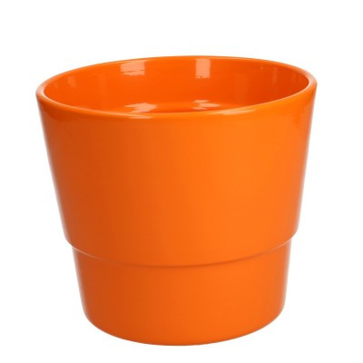 Keramiek pot kim d16*13.5cm orange