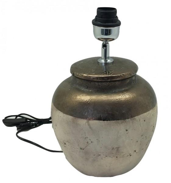 Keramik Lampe Sardara Bronze/Creme L23W23H33