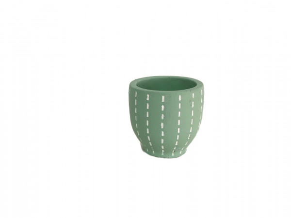 Cement Pot Perloz Round L.Green D12H12,5
