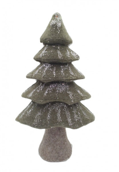 FABRIC XMAS TREE GREEN W25H44