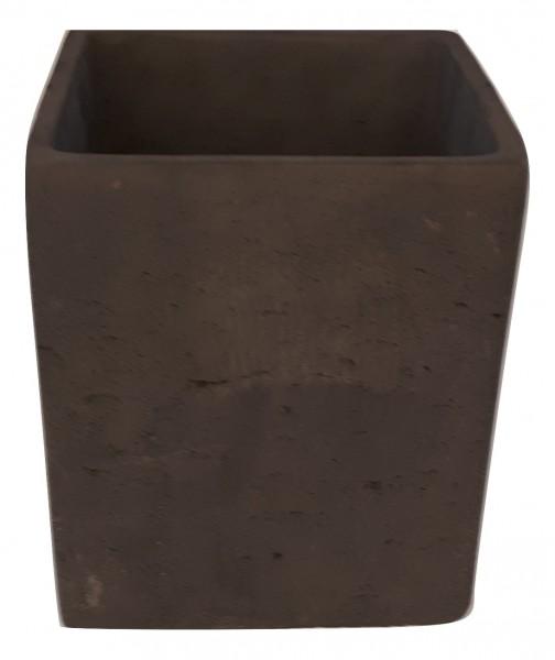 Cement Pot Rovigo Square Black D23H25