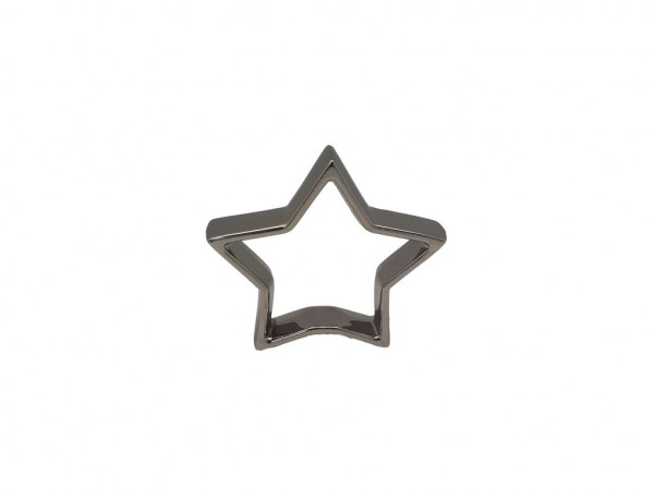 Ceramic Open Star Silver H14 Piece