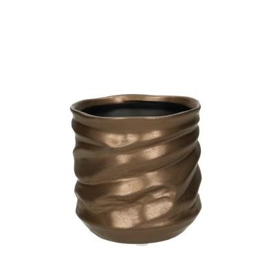 Ceramic Pot Asolo Round Gold D11H11