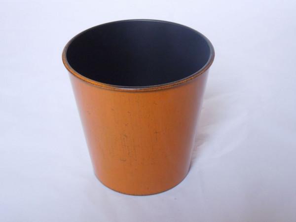 Melamine Orange /Black Round Pot D15H13