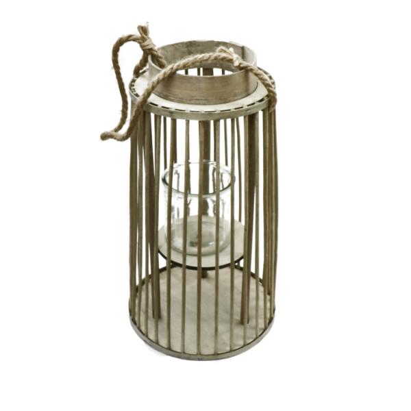 Lantern wood d13.5/22*64cm