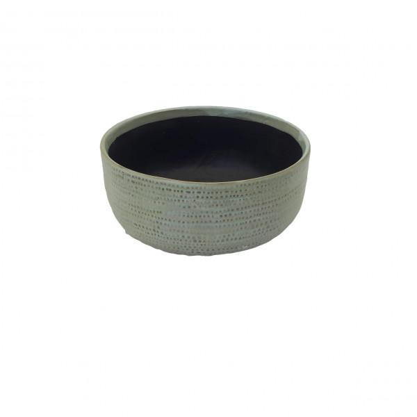 Ceramic Planter Alezio Round Rustique Pistache D20H9