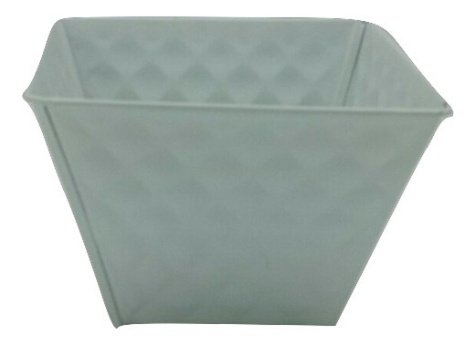 Zinc Planter Square White D14H10