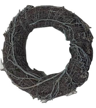Salim Wreath With Tree Branch Round White Washed D30H7 Piece