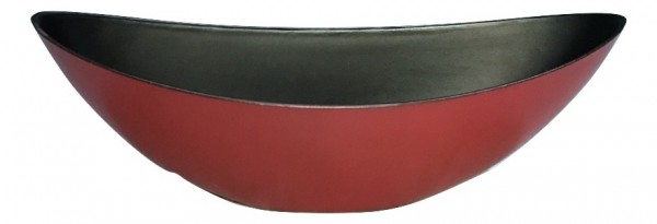 Melamine Oval High Matt Red/Blackwash L55W13H17