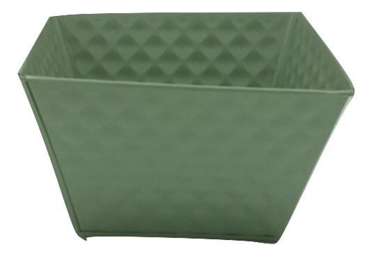 Zink Planter Vierkant Groen D18H18