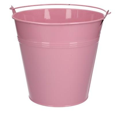 Zinc bucket d20*18.5cm pink