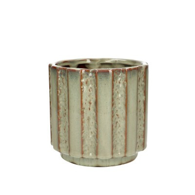 Ceramic.Pot Mirto D13.5*14.5cm.L.Green