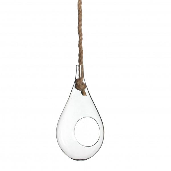 Glas Tropfen Mit Seil H33 D15