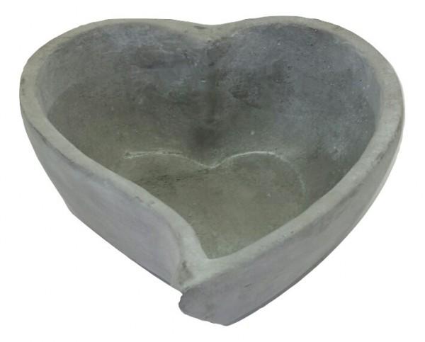 Pflanzer Herz Licht Grau L14W13H6