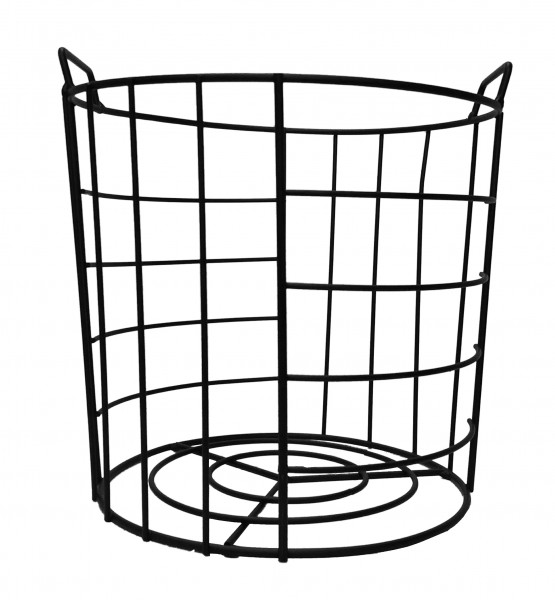 Metal Basket Black H25D29