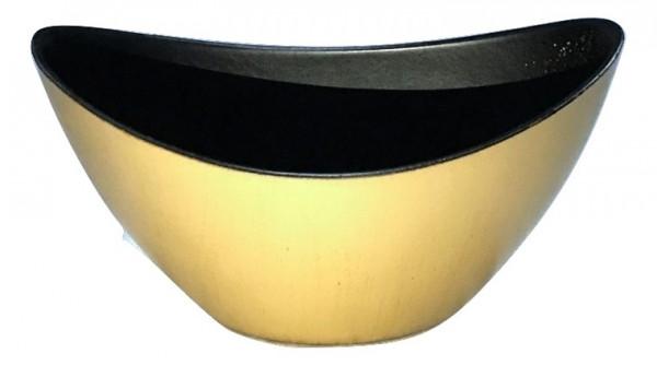 Melamine Oval High Matt Gold W/Brown Wash L20W9H12