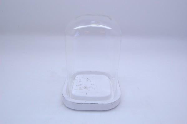 Zement Tablett Mit Glas Basis Marzio Antique D14,5H21