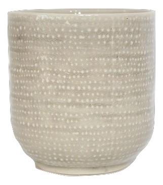 Ceramic Pot Vieste Round Grey D10H11
