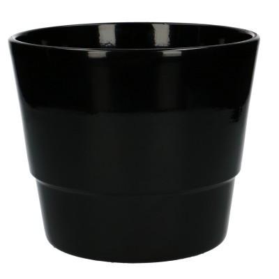 Keramiek pot kim d18*15cm Black