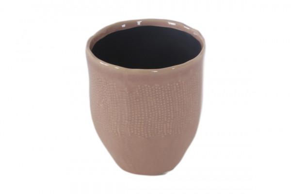 Ceramic Vase Amalfi Round Pink D14,5H20