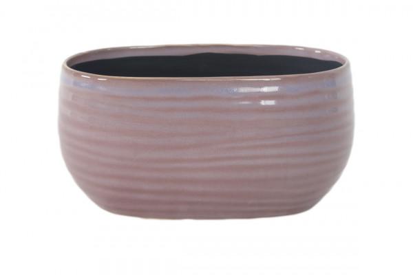 Ceramic Planter Arona Oval Purple L26,5W15,5H13,5