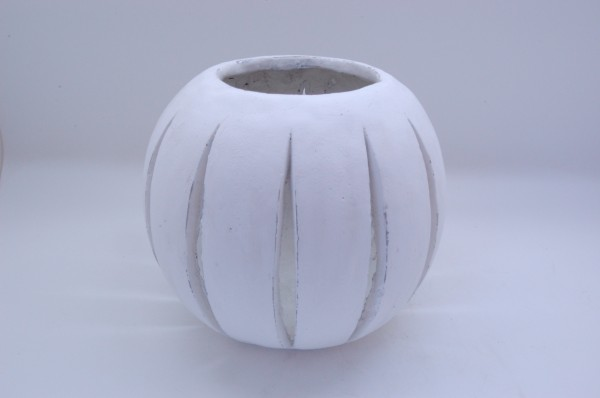 Cement Candle Holder Camogli White D25H23
