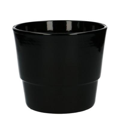 Keramiek pot kim d16*13.5cm black