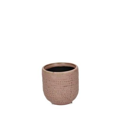 Ceramic Pot Alezio Round Rustique Pink D7H7