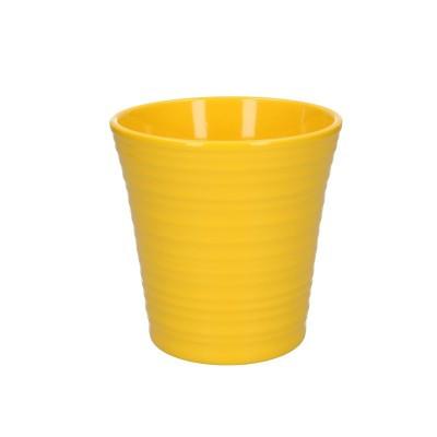 Phal.pot ribbed d13*13cm yellow
