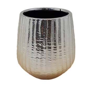 Ceramic Vase Vicenza Round Champagne D16,5H17