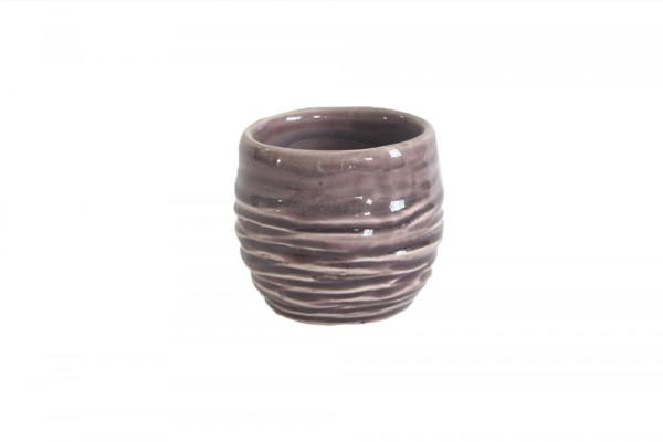 Ceramic Pot Breno Round Pink/White D8H7