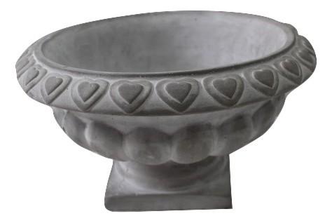 Urn Bedollo With Rim Round Grey D28H15