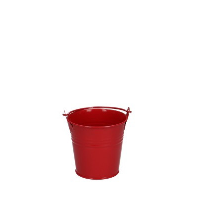 Zinc bucket d08*07cm red