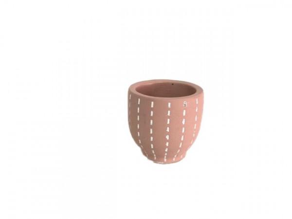Cement Pot Perloz Round D.Pink D12H12,5