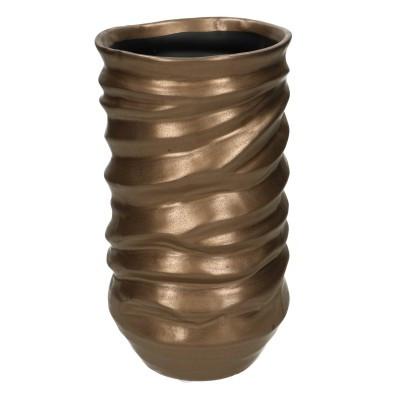 Ceramic Vase Asolo Round Gold D12H28