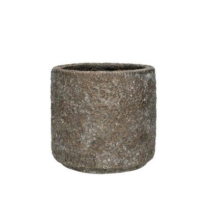 Ceramic Pot Ispra D14*13.5cm.D.Grey