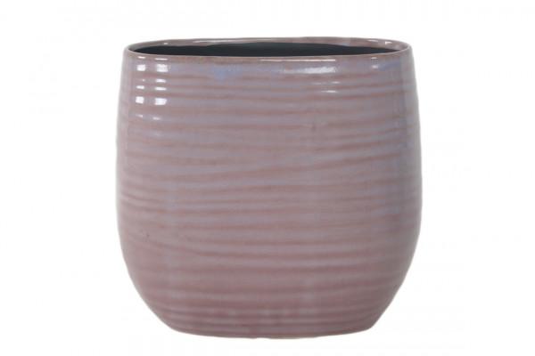 Ceramic Vase Arona Oval Purple L27W13,5H25