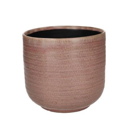 Ceramic Pot Alezio Round Rustique Pink D16H15